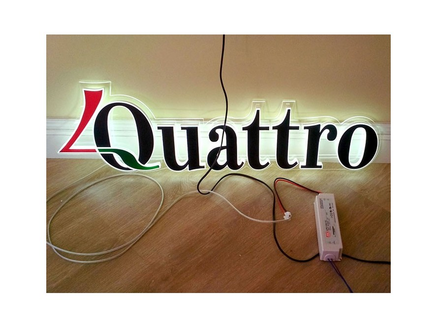 Plexi glass letters with led lighting